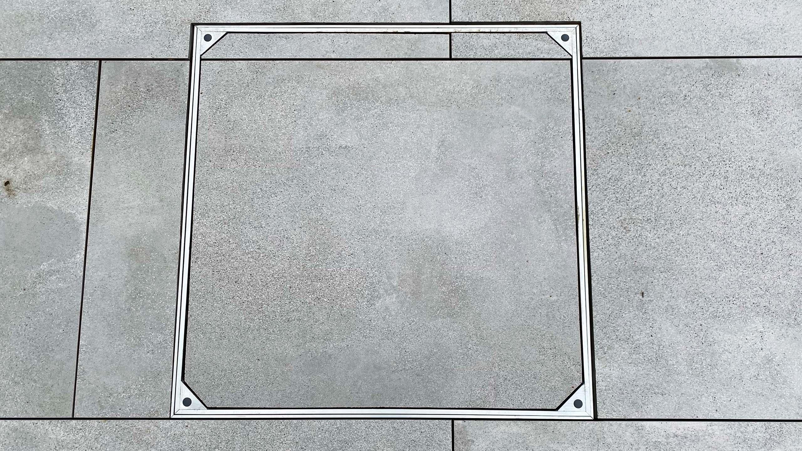 Aluminium Triple Sealed Square Manhole Cover With Slab Floor