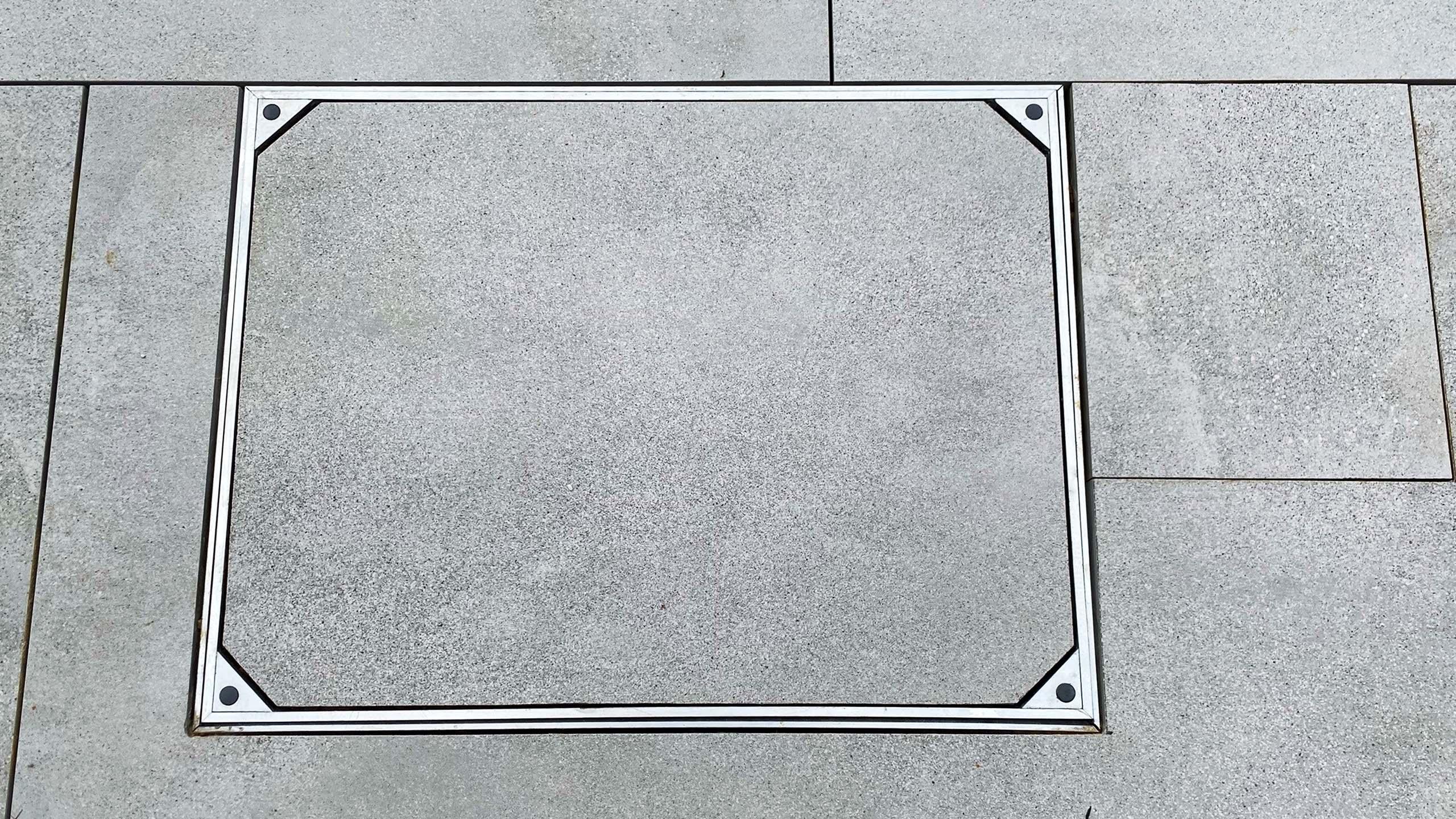Aluminium Triple Sealed Rectangle Manhole Cover With Slab Floor