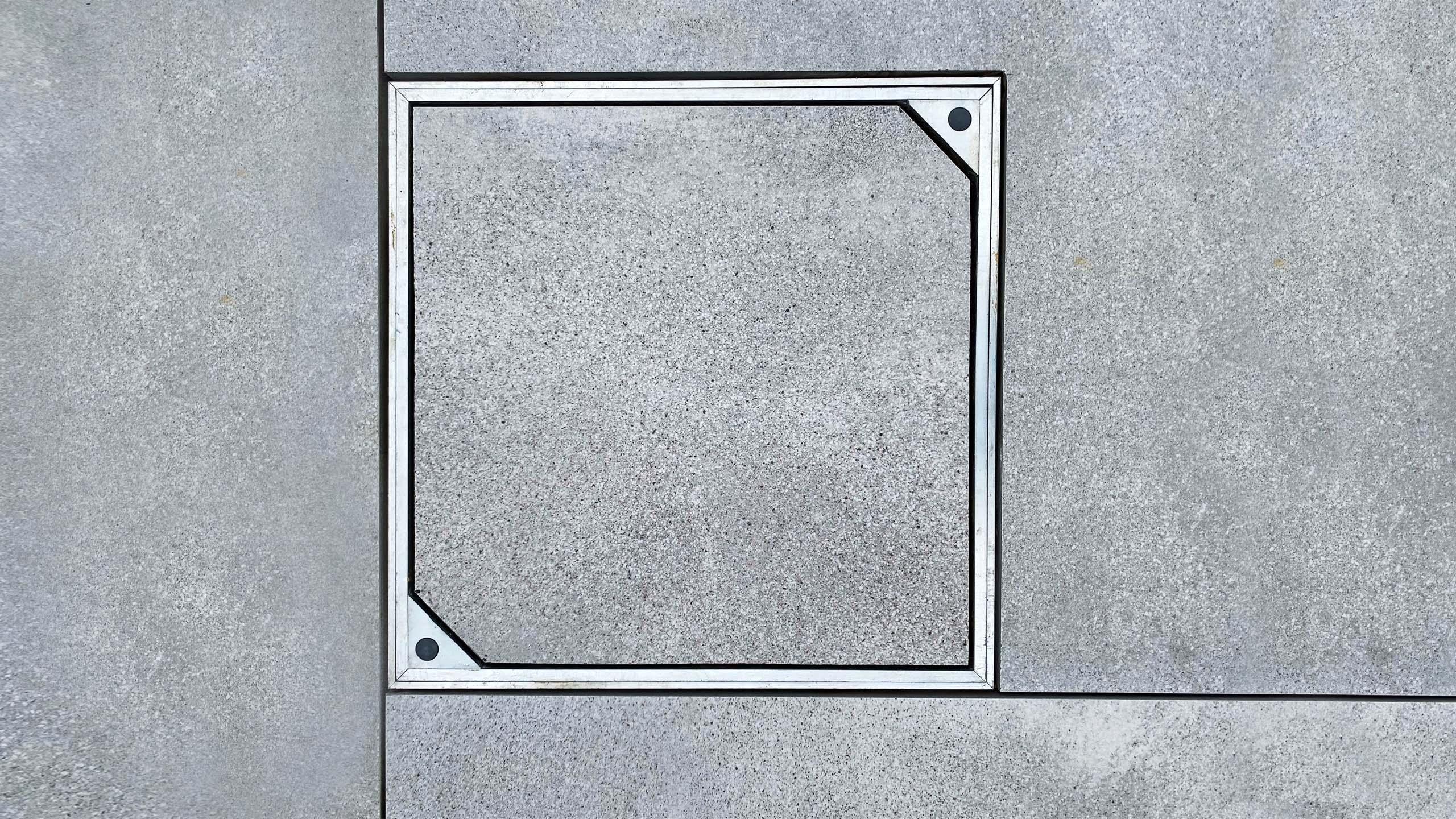 Aluminium Triple Sealed Small Square Manhole Cover With Slab Floor