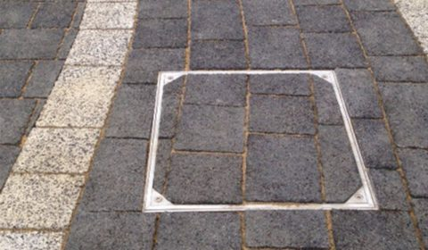 Alusthetic Access Cover Installation With Brick Pavement