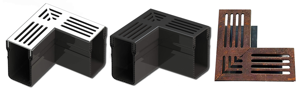 Alusthetic corner units with 3 options